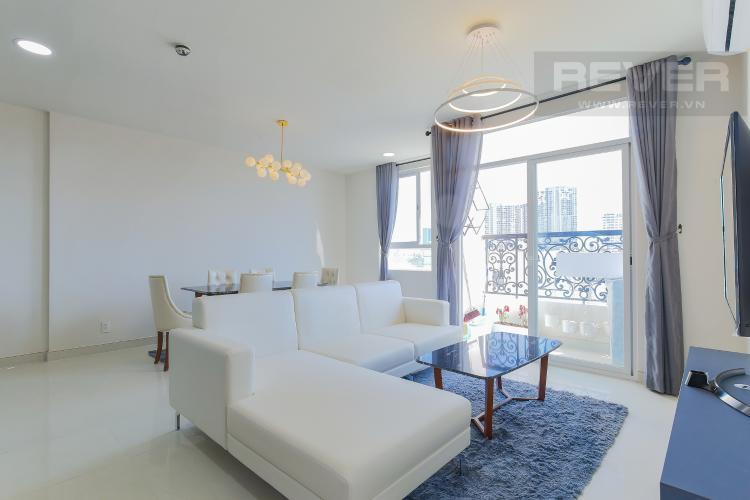 Phòng Khách Bán hoặc cho thuê căn hộ Grand Riverside 3PN và 2WC, đầy đủ nội thất, view thành phố