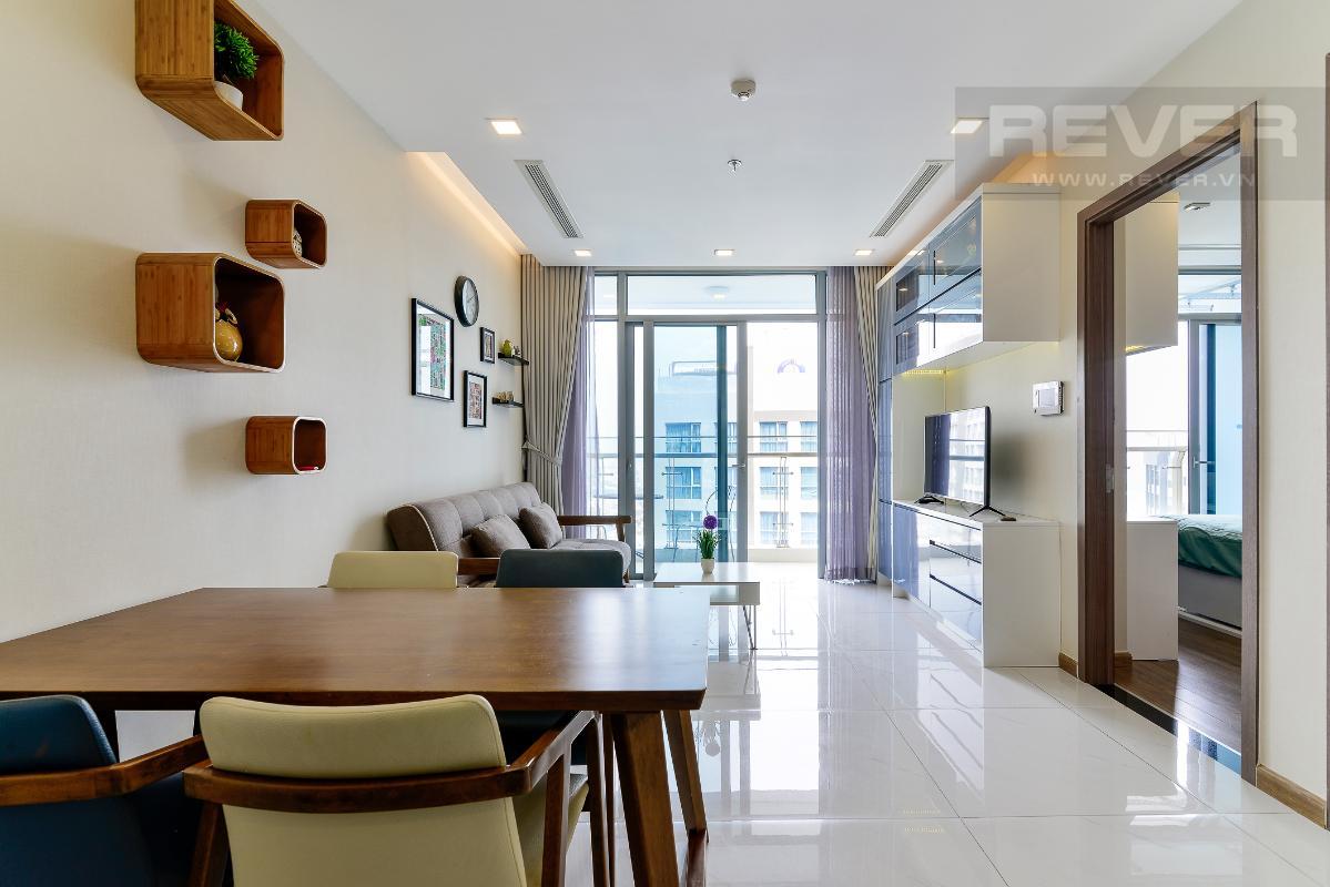 _DSC3953 Bán căn hộ Vinhomes Central Park 1PN, tháp Park 7, đầy đủ nội thất, view hồ bơi và mé sông
