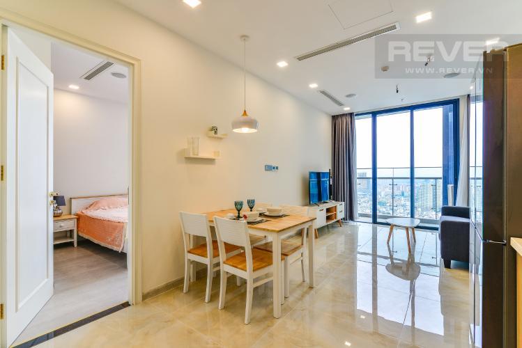 Phòng Khách Cho thuê căn hộ Vinhomes Golden River tầng cao 1PN đầy đủ nội thất