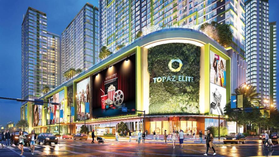 Phối cảnh dự án Topaz Elite Căn hộ Topaz Elite tầng cao, ban công hướng Tây Bắc mát mẻ.