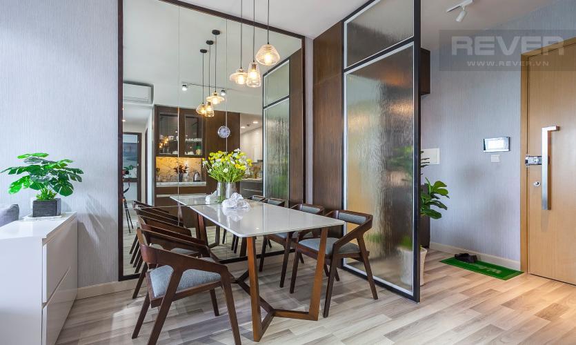 Bàn Ăn Căn hộ Vista Verde 2 phòng ngủ tầng cao T1 nội thất hiện đại