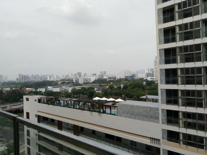 view nhìn ra phía ngoài căn hộ midtown Căn hộ Phú Mỹ Hưng Midtown nội thất cơ bản, view nội khu thoáng mát.
