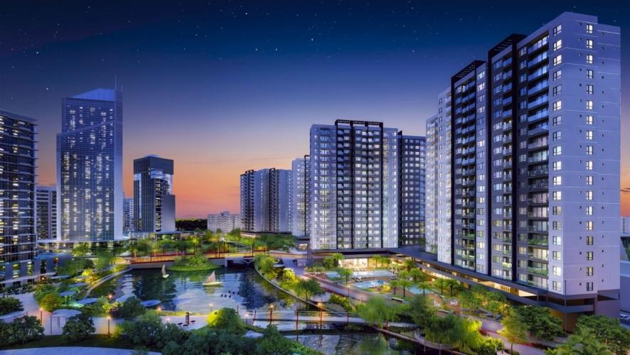 Tổng quan nội khu Akari City Căn hộ tầng trung Akari City view mát mẻ, thông thoáng.
