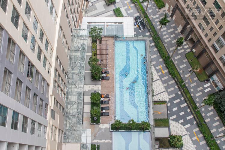 View Bán hoặc cho thuê căn hộ Saigon Royal 1PN, tháp A, đầy đủ nội thất, view hồ bơi