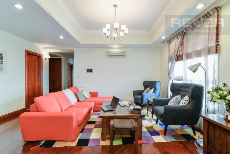 Phòng Khách Căn hộ The Manor 4 phòng ngủ tầng cao tháp G đầy đủ tiện nghi