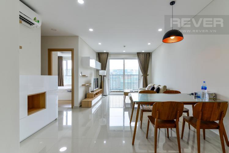 Phòng Khách Cho thuê căn hộ Vista Verde 2PN, tầng cao, đầy đủ nội thất, view Quận 2
