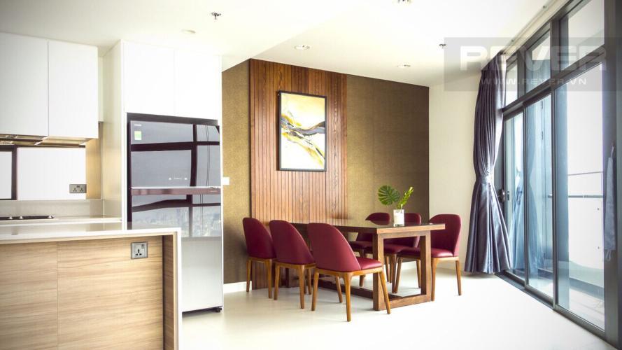 Bàn ăn Căn hộ City Garden tầng cao, 3PN đầy đủ nội thất, view đẹp
