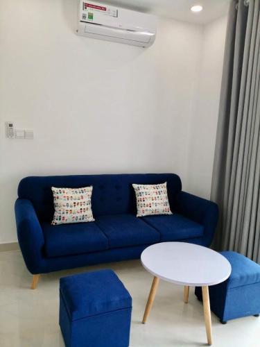 Phòng khách , Căn hộ SaiGon Mia , Huyện Bình Chánh Căn hộ Saigon Mia tầng 14 bàn giao kèm nội thất đầy đủ, view thoáng mát