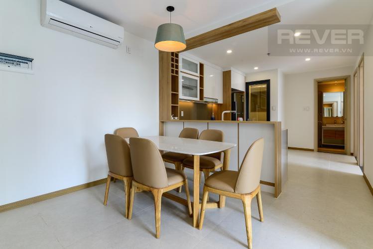 Phòng Ăn Cho thuê căn hộ New City Thủ Thiêm 85m2 gồm: 3PN 2WC, hướng Đông Bắc, view nội khu