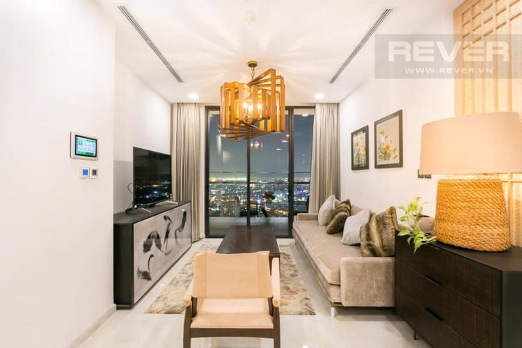 Phòng Khách Cho thuê căn hộ Vinhomes Golden River 3PN, tháp The Luxury 6, view thành phố tuyệt đẹp