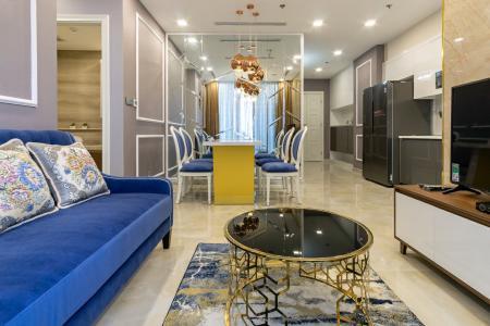 Cho thuê căn hộ Vinhomes Golden River 2PN, tầng thấp, tháp The Aqua 1, đầy đủ nội thất