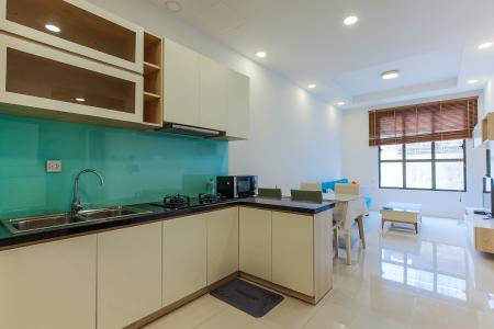 Căn hộ ICON 56 tầng thấp 1 phòng ngủ đầy đủ nội thất