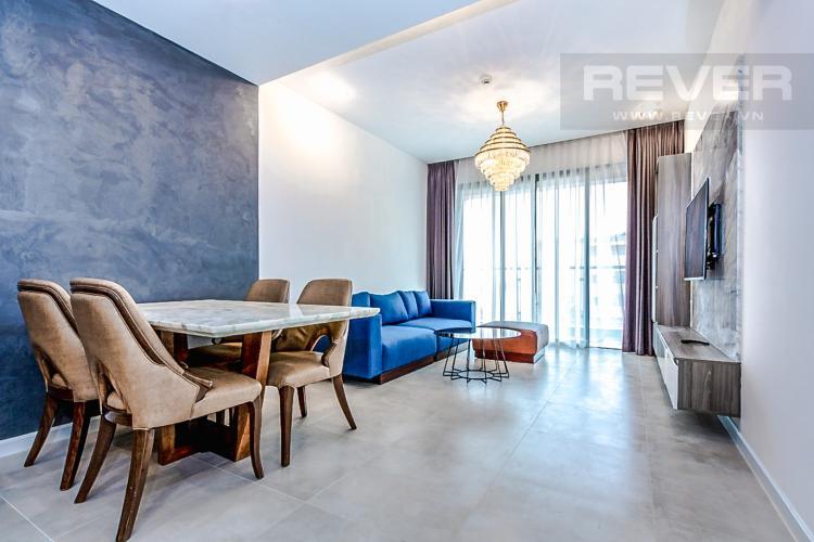 Phòng Khách Bán căn hộ The Gold View 2PN, tầng trung, tháp A, đầy đủ nội thất