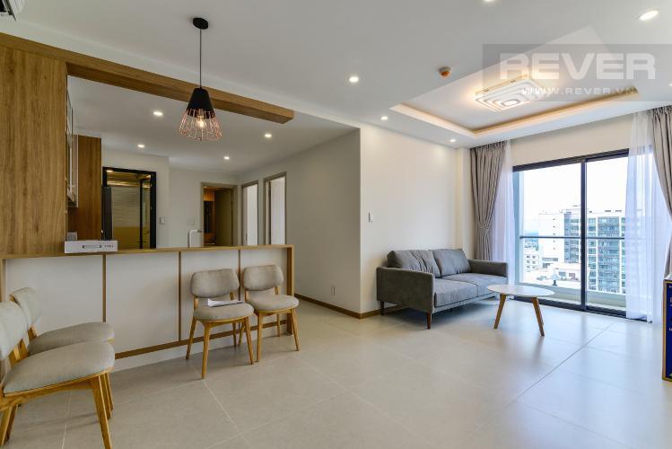 Phòng Khách Cho thuê căn hộ New City Thủ Thiêm tầng cao, 3PN đầy đủ nội thất, view sông