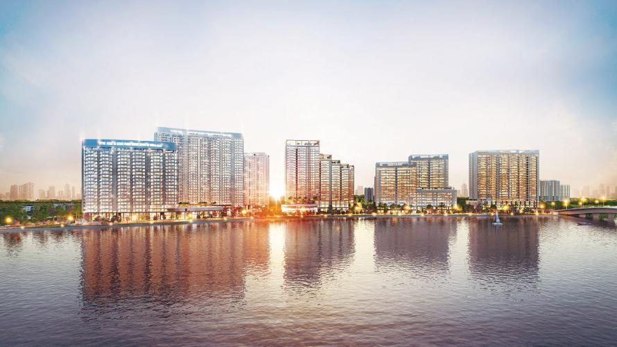 building căn hộ midtown Căn hộ Phú Mỹ Hưng Midtown ban công thông gió, view thành phố và sông.