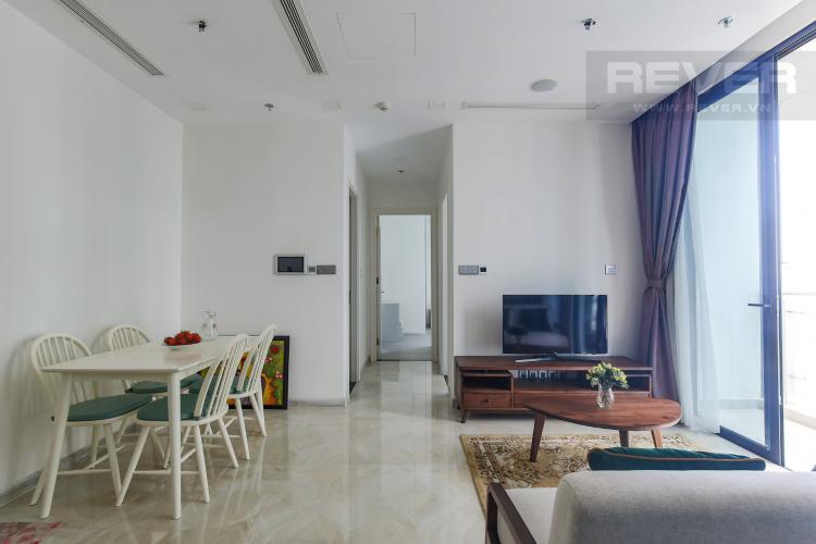 Phòng Khách Bán hoặc cho thuê căn hộ Vinhomes Golden River 2PN, tầng cao, đầy đủ nội thất, view sông Sài Gòn
