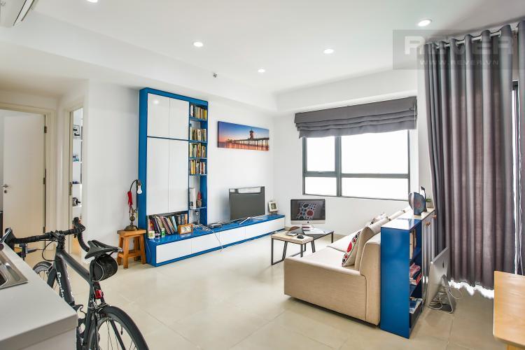 Phòng Khách Căn góc Masteri Thảo Điền 2 phòng ngủ tầng trung T3 ful nội thất