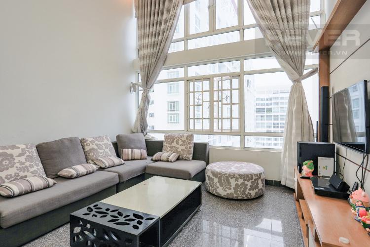 Phòng Khách Căn hộ Phú Hoàng Anh 4PN có tầng lửng, đầy đủ nội thất