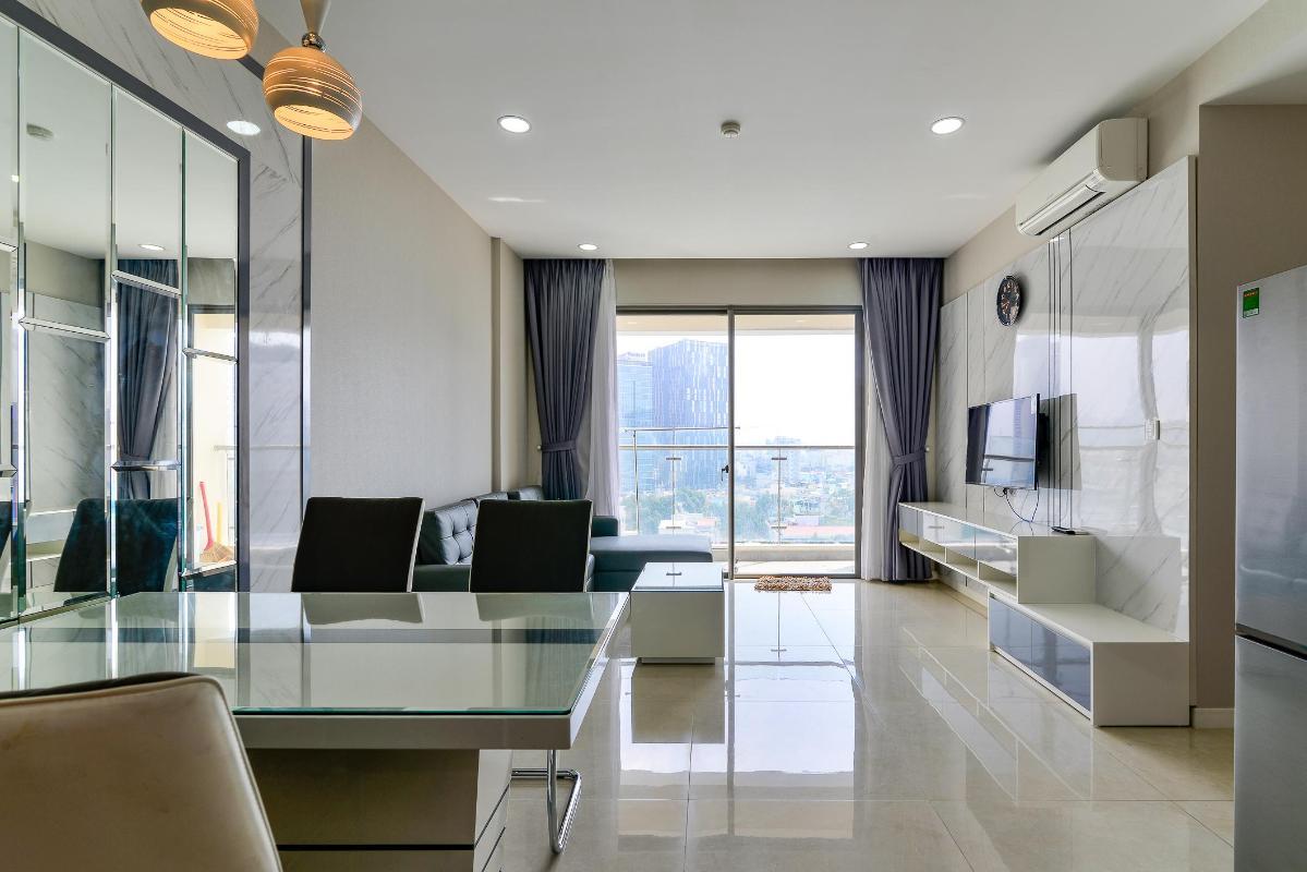 221e02961ae6fcb8a5f7 Cho thuê căn hộ Masteri Millennium 2PN, block A, diện tích 65m2, đầy đủ nội thất, view hồ bơi mát mẻ