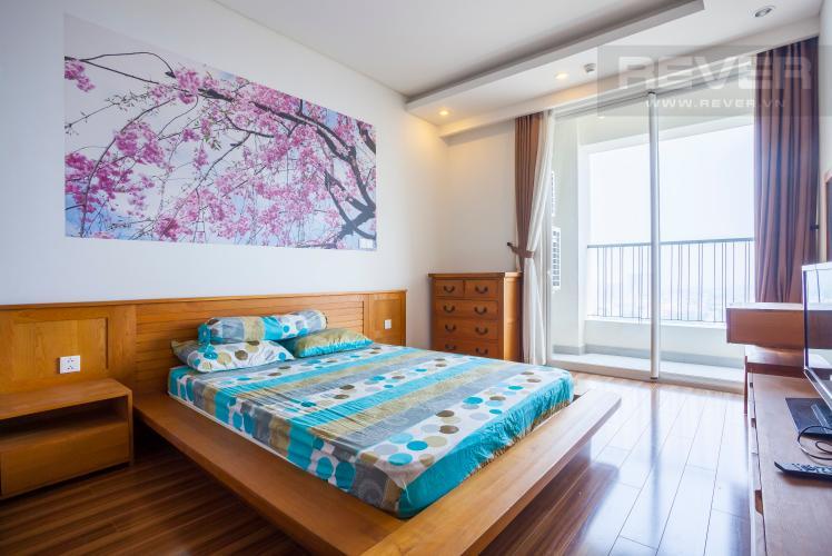 Phòng ngủ 2 Căn hộ Thảo Điền Pearl tầng cao tháp A ban công rộng, view trực diện sông