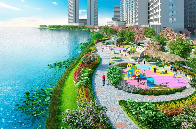 Ngoại cảnh công viên Phú Mỹ Hưng Midtown Căn hộ Phú Mỹ Hưng Midtown tầng trung, view nội khu yên tĩnh.