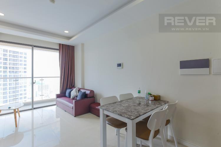 Phòng Khách Căn hộ Masteri Millennium tầng cao 2PN đầy đủ nội thất view sông