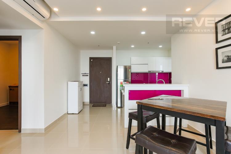 Phòng Khách Căn hộ The Tresor 2 phòng ngủ tầng cao TS1 nội thất đầy đủ