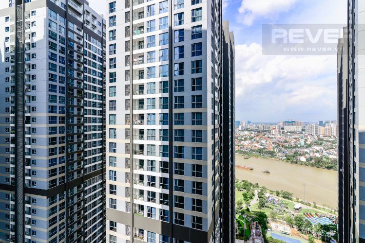 View Căn hộ Vinhomes Central Park tầng trung, tháp P7, 3 phòng ngủ, view sông
