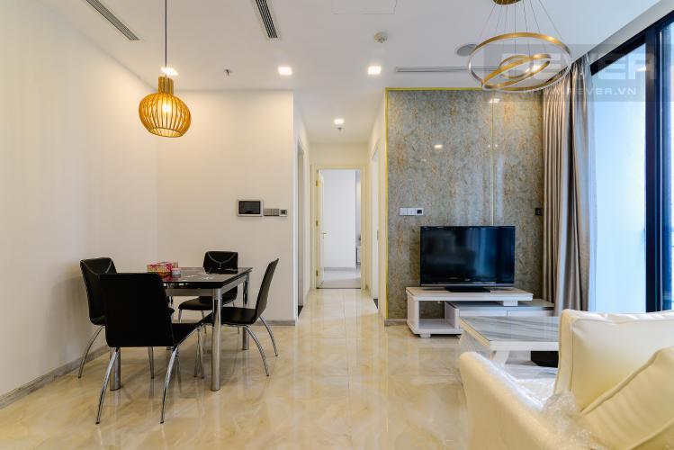 Phòng Khách Căn hộ Vinhomes Golden River tầng trung, tháp The Aqua 3, 2PN, nội thất đầy đủ