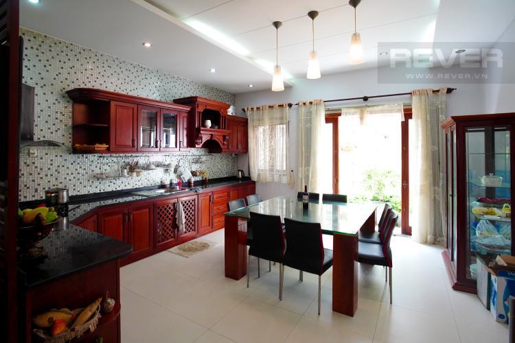 Phòng Bếp Cho thuê nhà phố 4 tầng đường 19, Q2, đầy đủ nội thất, view Landmark 81