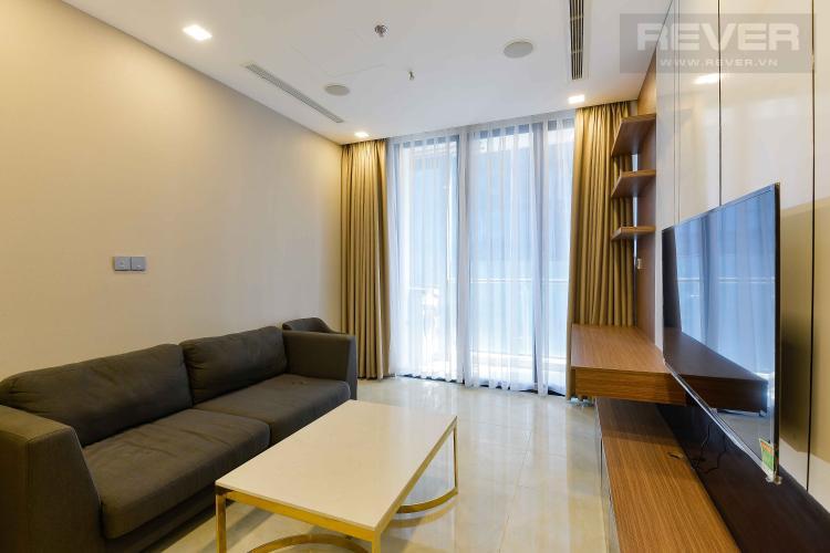 Phòng Khách Bán căn hộ Vinhomes Golden River 1PN, đầy đủ nội thất, view trực diện sông Sài Gòn