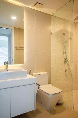 Toilet căn hộ GATEWAY THẢO ĐIỀN Cho thuê căn hộ Gateway Thảo Điền 1PN, tầng cao, diện tích 56m2, đầy đủ nội thất, view hồ bơi