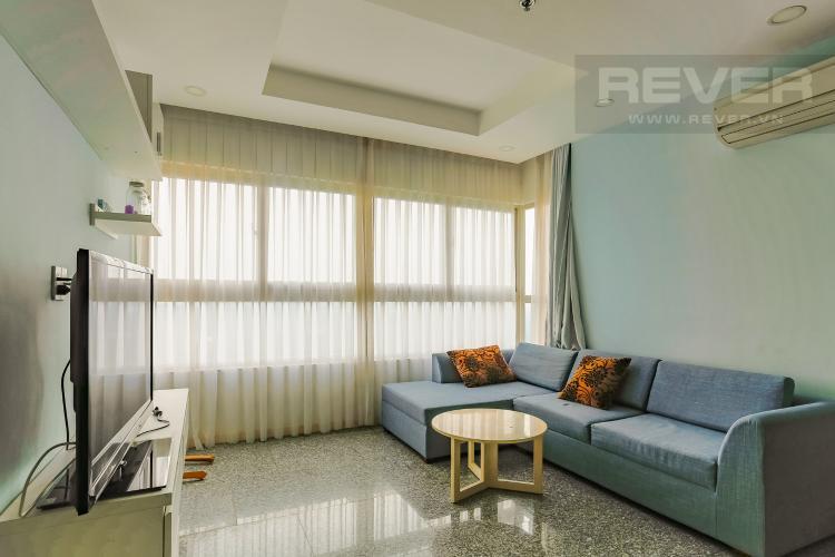 Phòng Khách Căn hộ Dragon Hill Residence and Suites 2 phòng ngủ tầng cao tháp B nội thất có sẵn