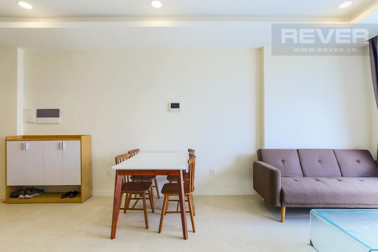 Phòng Khách Cho thuê căn hộ Masteri Millennium tầng trung, có ban công, 2PN