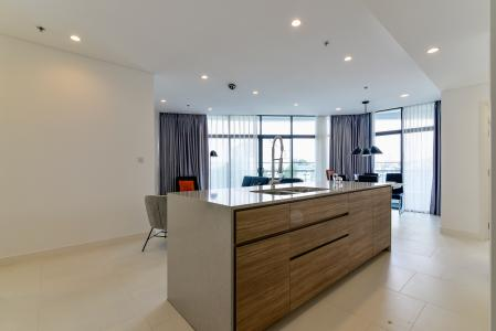 Bán hoặc cho thuê căn hộ City Garden 100m2 2PN 2WC, view nội khu, nội thất cao cấp