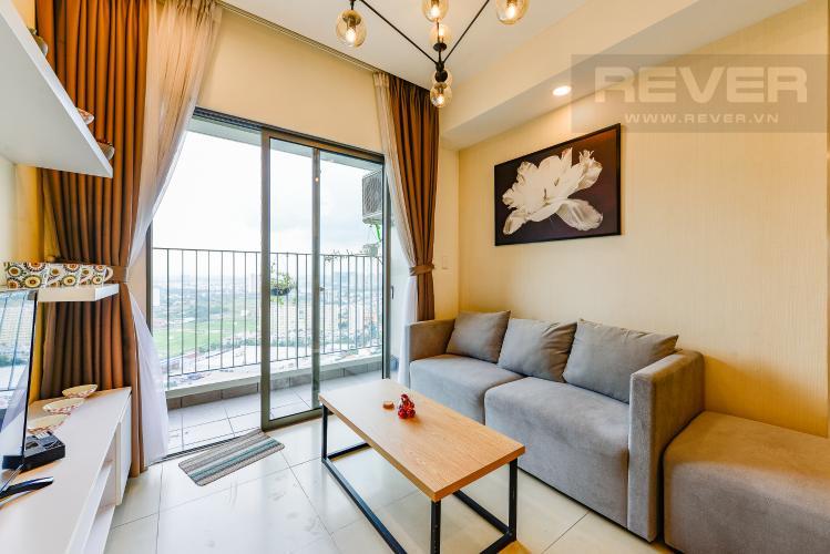 Phòng khách Cho thuê căn hộ Masteri Thảo Điền tầng cao, 2PN đầy đủ nội thất