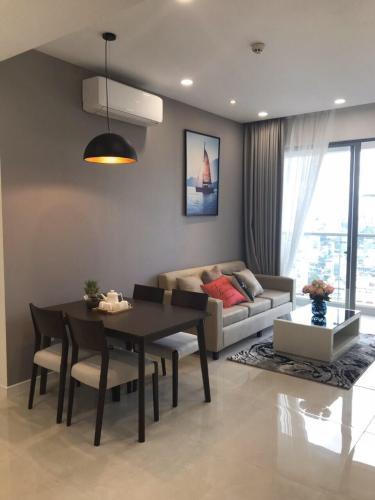 Cho thuê căn hộ Masteri Millennium thuộc tầng trung, 1 phòng ngủ, diện tích 56m2, nội thất dầy đủ