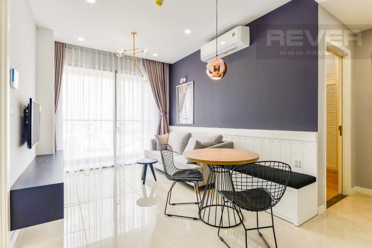 Phòng khách Bán căn hộ Masteri Millennium 2 phòng ngủ, tầng cao, đầy đủ nội thất
