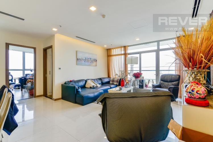 Phòng Khách Căn hộ Vinhomes Central Park 4 phòng ngủ tầng cao P1 view sông