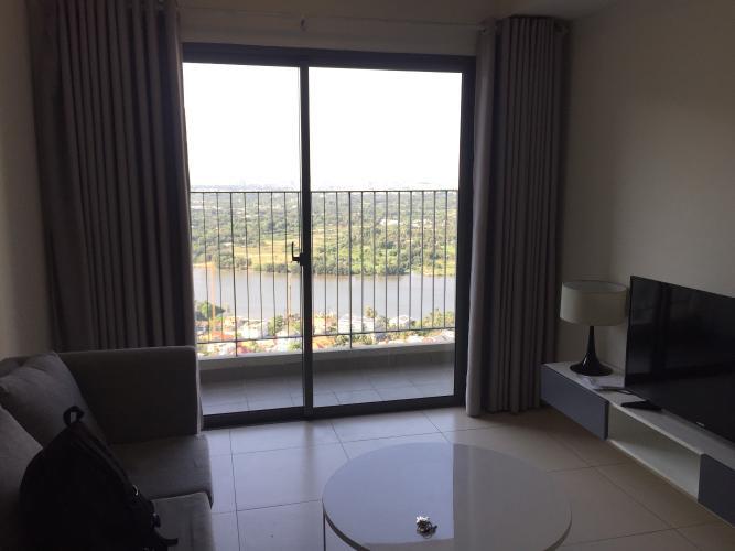 phòng khách căn hộ Masteri Thảo Điền Căn hộ Masteri Thảo Điền 2 phòng ngủ, view sông và thành phố.