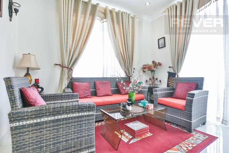 Phòng khách Villa 2 mặt tiền đường 3 Làng Báo Chí, Thảo Điền thiết kế sang trọng, tiện nghi