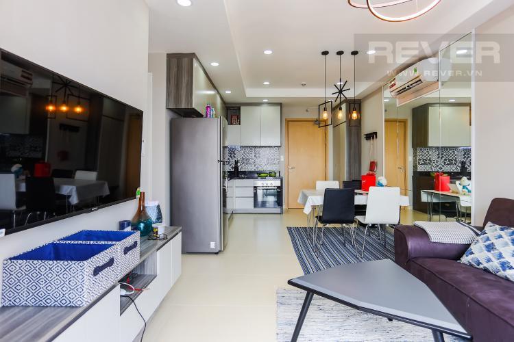 Phòng Khách Căn hộ M-One Nam Sài Gòn 2 phòng ngủ tầng cao T2 hướng Tây Nam