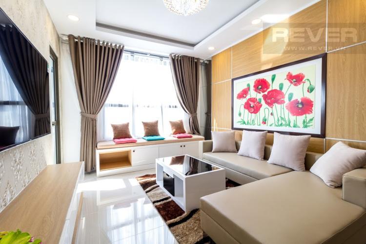 Phòng Khách Căn hộ Icon 56 3 phòng ngủ tầng trung đầy đủ nội thất