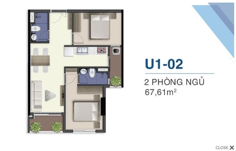Mặt bằng căn hộ Q7 Saigon Riverside Complex Bán căn hộ tầng cao Q7 Saigon Riverside nhìn về khu Nhà Bè.