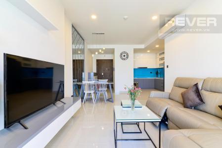 Cho thuê căn hộ Saigon Royal 2PN, tháp A, diện tích 88m2, đầy đủ nội thất, view sông Sài Gòn và tháp Bitexco