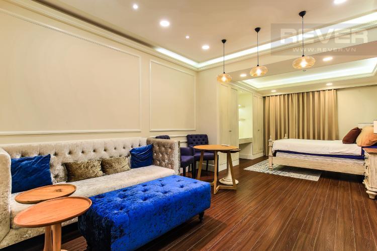 Phòng Khách Cho thuê căn hộ Icon 56 tầng trung, 1PN đầy đủ nội thất