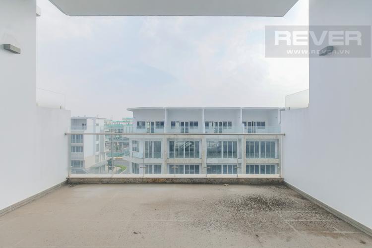 Sân Thượng mặt trước Cho thuê căn hộ shophouse Sarimi Sala Đại Quang Minh, diện tích 456m2, bàn giao hoàn thiện bên ngoài