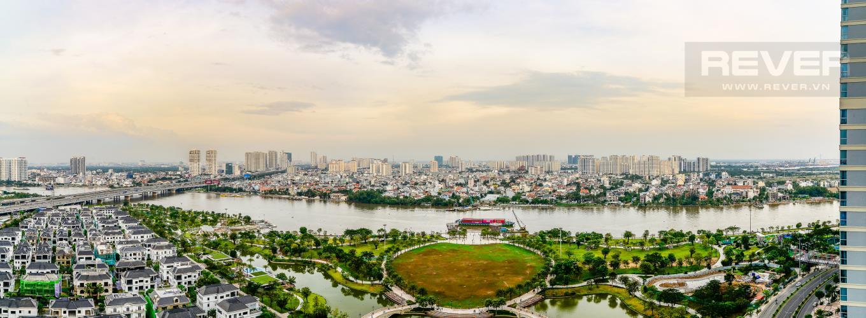 View Căn hộ Vinhomes Central Park 4PN đầy đủ nội thất, view sông Sài Gòn