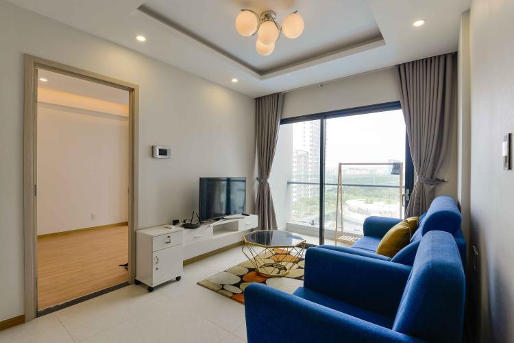 Phòng Khách Cho thuê căn hộ New City Thủ Thiêm 2PN, tháp Babylon, đầy đủ nội thất, view hồ bơi