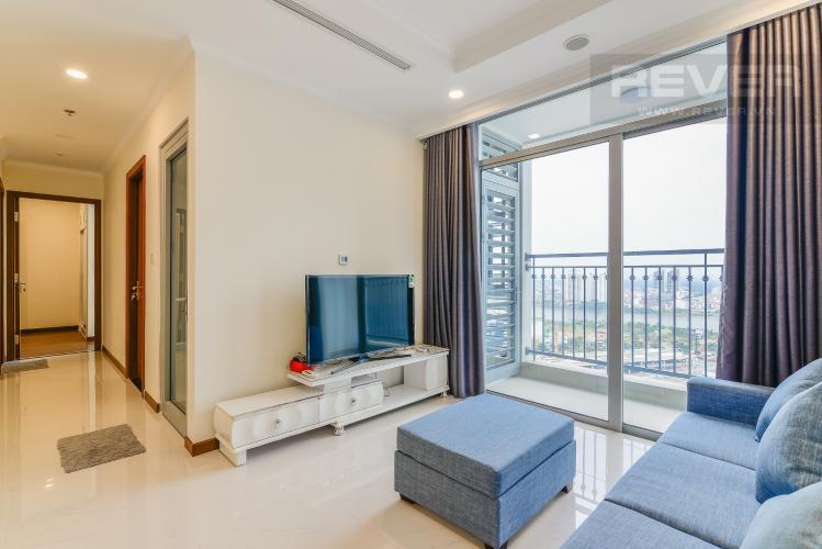 Phòng Khách Căn hộ Vinhomes Central Park 2 phòng ngủ tầng cao Landmark 6